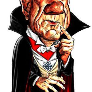 Κόμης Δράκουλας Καρικατούρα Cartoon