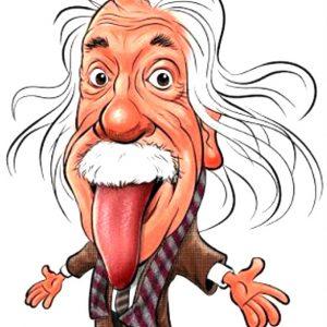 Albert Einstein Καρικατούρα Cartoon