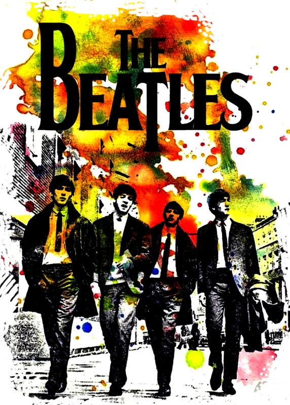 The Beatles Splash Art Cover