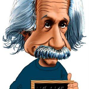 Einstein Αστεία Καρικατούρα
