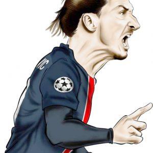 Zlatan Ibrahimovic Καρικατούρα Print