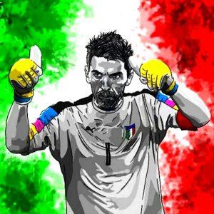 Gianluigi Buffon Italy Art