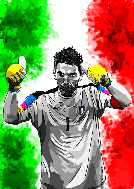 Gianluigi Buffon Italy Art