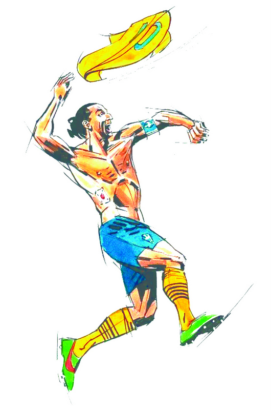 Zlatan Ibrahimovic Pencil Sketch