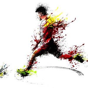 Ποδόσφαιρο Εκτύπωση Μπλουζάκι Ζωγραφιά