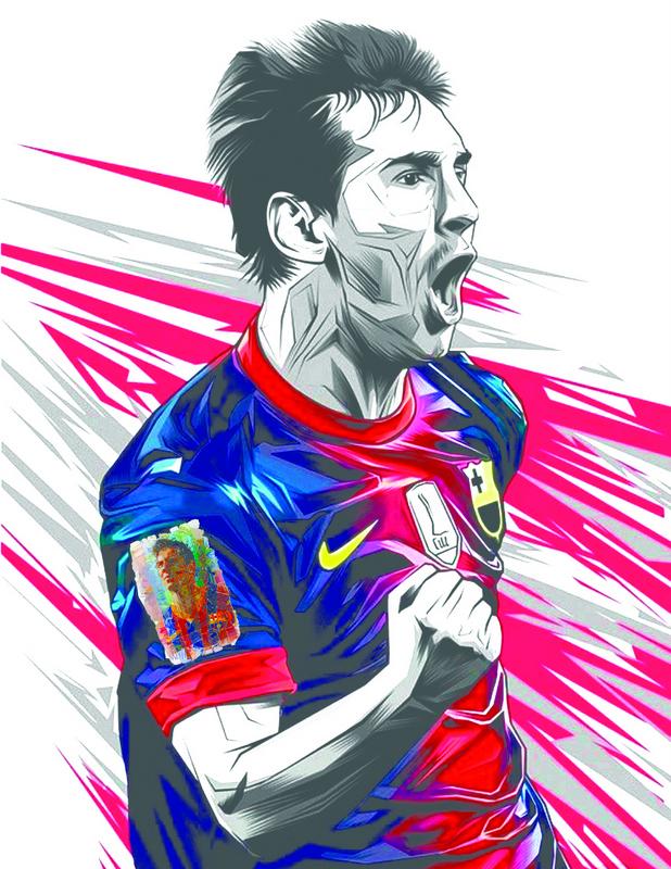 Lionel Messi Amazing Art Print