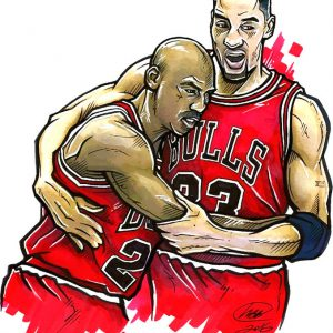 Basketball Bulls Hug