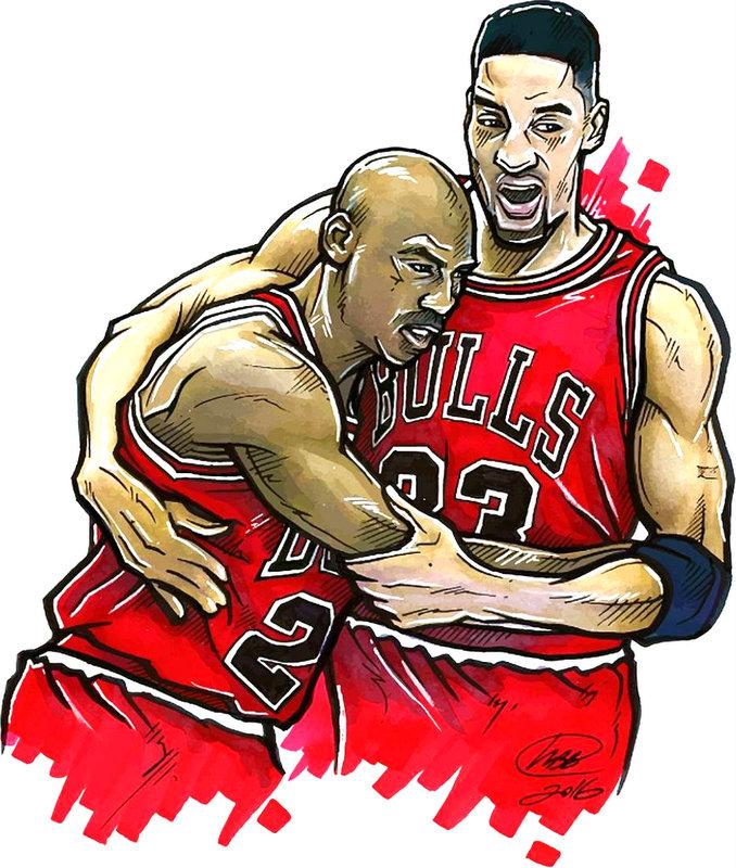 Basketball Bulls Hug