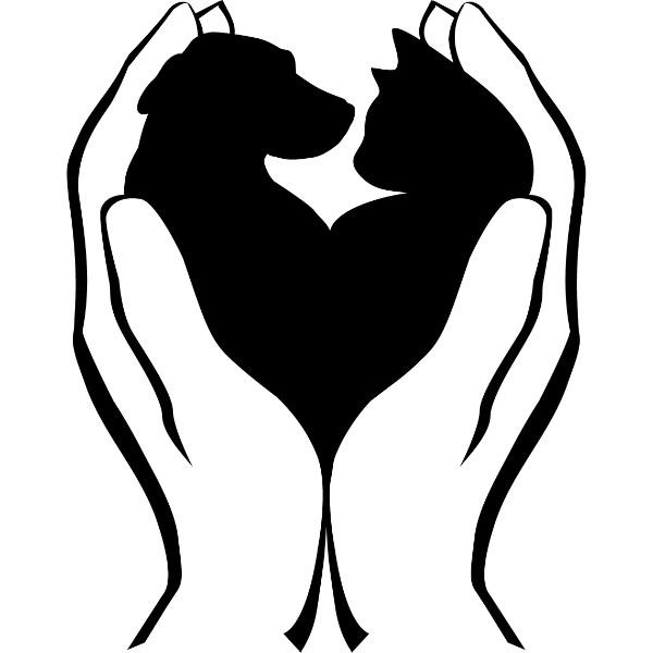 Κουτάβι Γατάκι Καρδιά Εκτύπωση