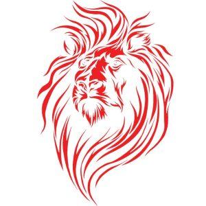 Λιοντάρι Στάμπα Εκτύπωση Μπλουζάκι