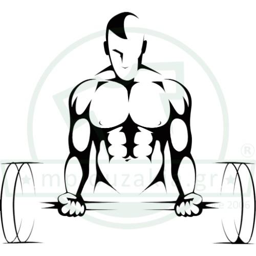 Weightlifting Bodybuilding Στάμπα Μπλουζάκι