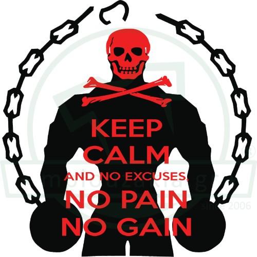 Keep Calm No Pain Gain