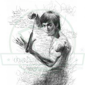 Bruce Lee Σκίτσο Scribble