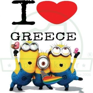 Minions Love Greece Heart