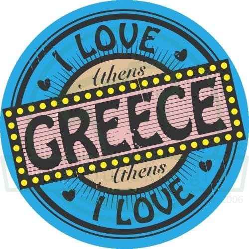 LOVE GREECE ATHENS PRINT